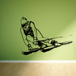 Skiing Wall Decal - Vinyl Decal - Car Decal - Bl003