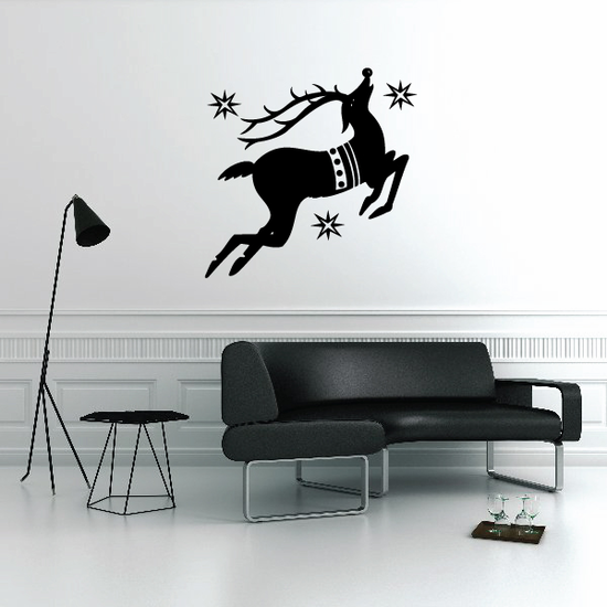 Rudolph The Red Nosed Reindeer Silhouette Decal