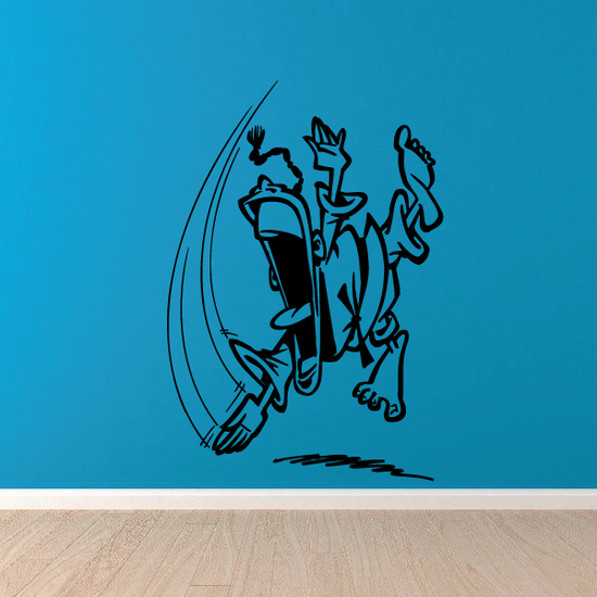 Jumping Judo Chop Decal