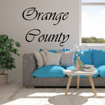Orange County Cursive Decal