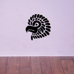 Feathered Baby Eagle Head Decal