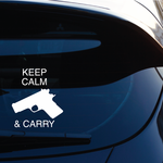 Keep Calm And Carry Decal
