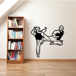Face Kick Fighting Decal