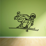 Skiing Wall Decal - Vinyl Decal - Car Decal - Bl010