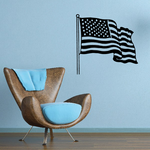America Flag in Wind Decal
