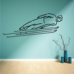 Skiing Wall Decal - Vinyl Decal - Car Decal - Bl013