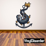 Sea Monster with Anchor Printed Decal