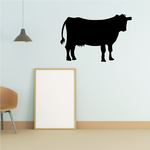 Cow with Udders Standing Decal