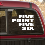 Five Point Five Six Decal