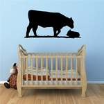 Angus Cow Standing Silhouette Decal