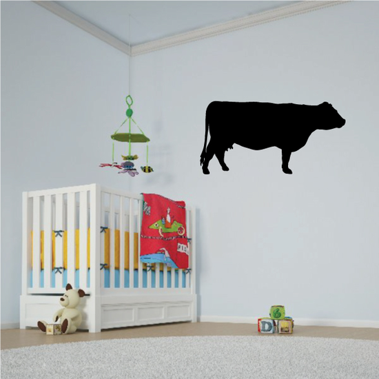 Angus Cow Watching Decal