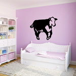 Running Cow Cattle Decal