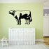 Mooing Hereford Cow Decal