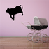 Cow Prancing Silhouette Decal