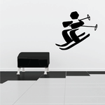 Skiing Wall Decal - Vinyl Decal - Car Decal - Bl035