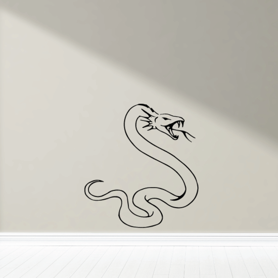 Serpent Snake Hissing Decal