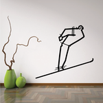 Skiing Wall Decal - Vinyl Decal - Car Decal - Bl037