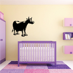 Cartoon Cow Cattle Decal