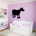 Cartoon Cow Cattle Silhouette Decal