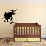 Cartoon Cow Cattle Standing Decal