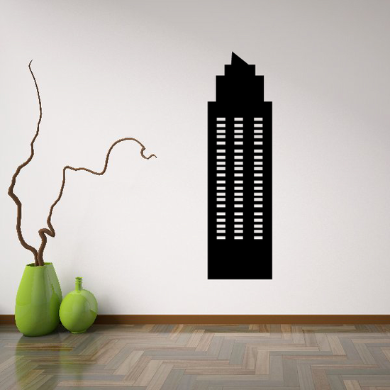 Pointed Tall Building Decal