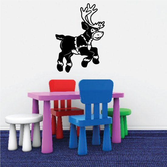 Leaping Reindeer Decal