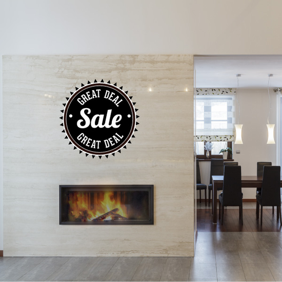 Great Deal Sale Business Badge Wall Decal - Vinyl Decal - Car Decal - Id025