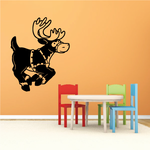 Dasher Reindeer Decal
