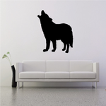 Coyote Howling Up Decal