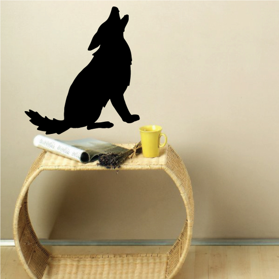 Coyote Sitting Howling Decal