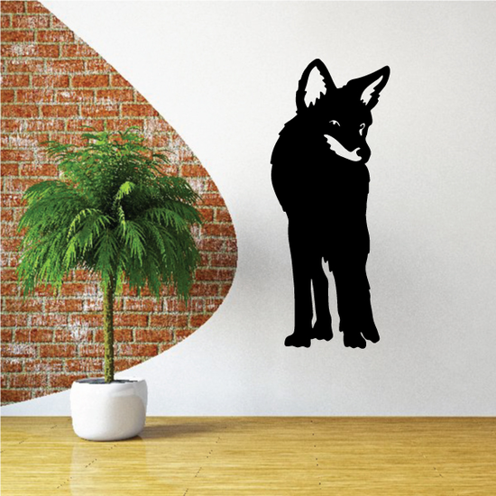 Coyote Facing Decal
