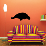 Resting Manatee Decal