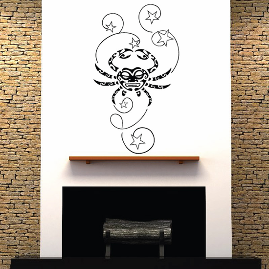 Crab and Stars Decal