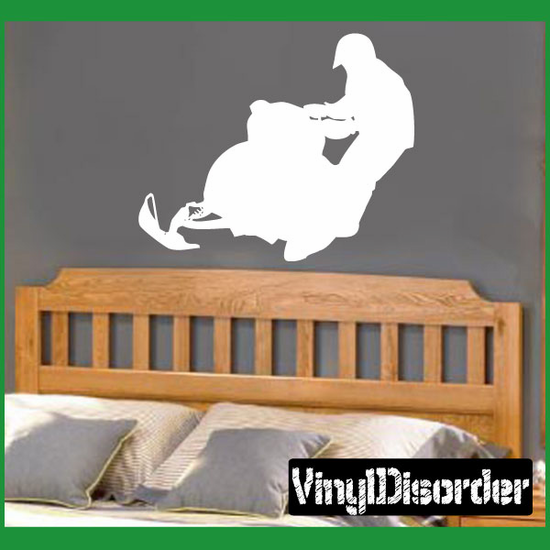 Rider and Snowmobile Decal
