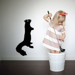 Standing Staring Squirrel Decal