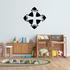 Pointed Cross in Circle Decal