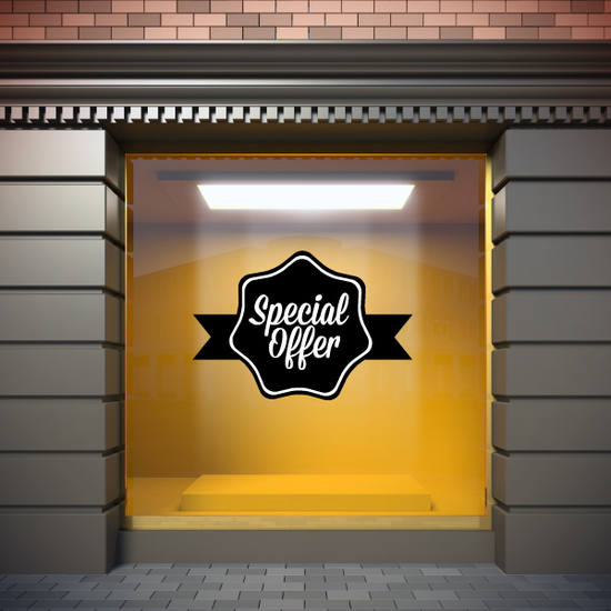 Special Offer Business Badge Wall Decal - Vinyl Decal - Car Decal - Id031