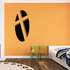 Cross Cutout from Oval Decal