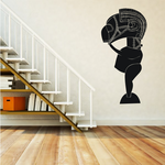 African Art Masked Textured Statue Decal