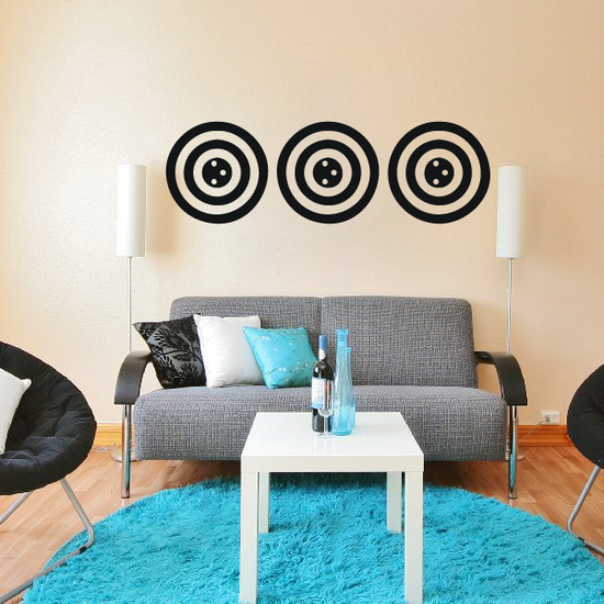 African Art Circles Pattern Decal