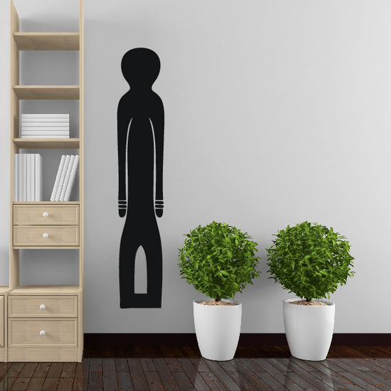 African Art Front Statue Decal