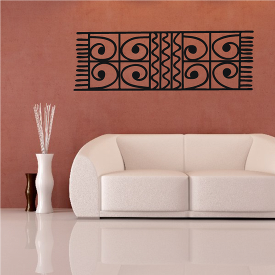 African Art Textile Pattern Decal