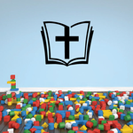 Bible with Cross Decal