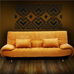 African Art Diamond Pattern Decal