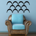 African Art Waves Pattern Decal