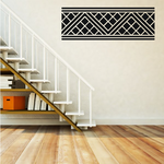 African Art Zig Zag Square Pattern Decal