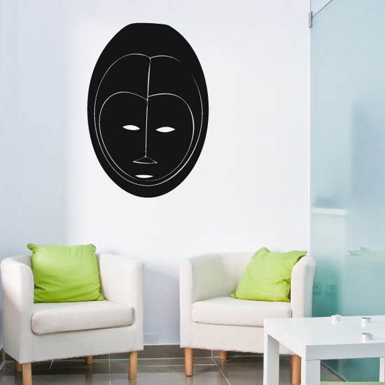 African Art Oval Face Mask Decal
