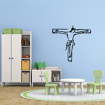 Crucifixion Outline Decal