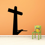 Tall Cross with Short Shadow Decal