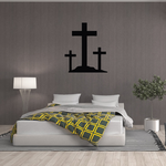Large Cross and Two Small Crosses Decal